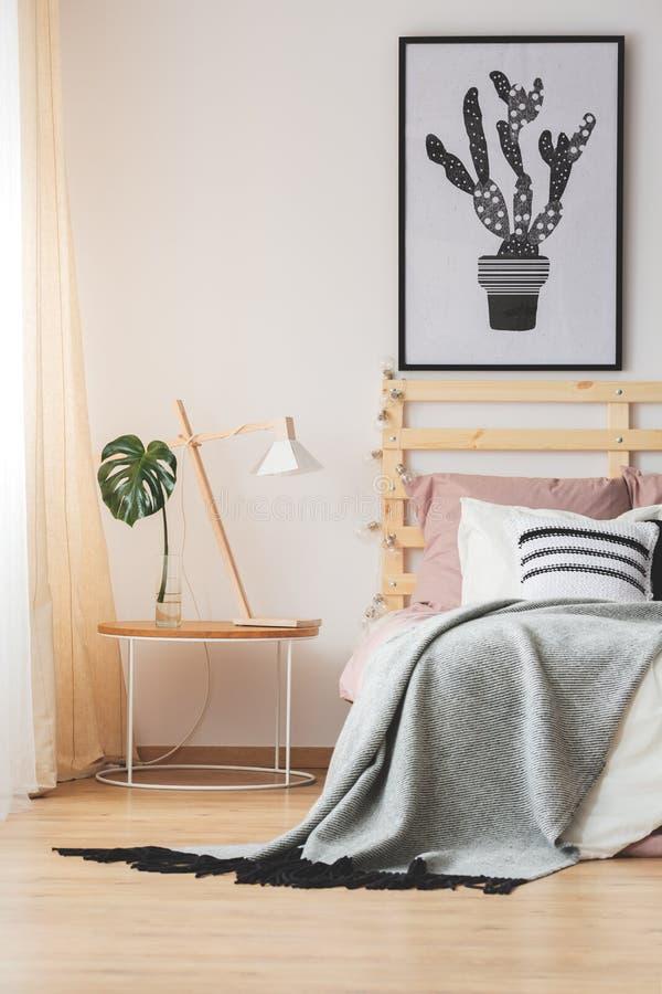 Творческий дизайн спальни стоковое изображение