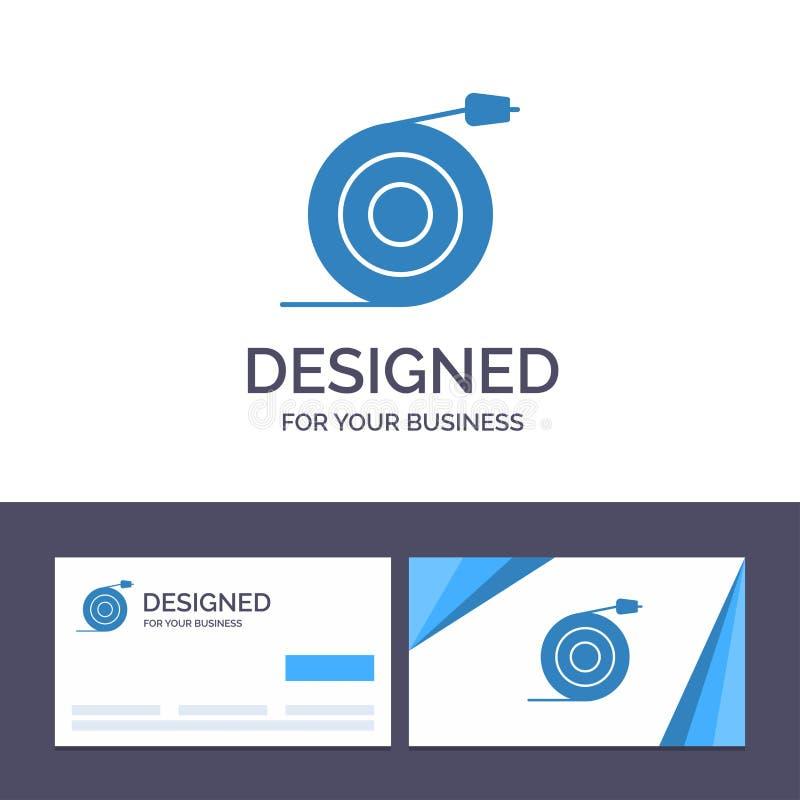 Творческий изогнутый шаблон, подача визитной карточки и логотипа, труба, иллюстрация вектора воды бесплатная иллюстрация
