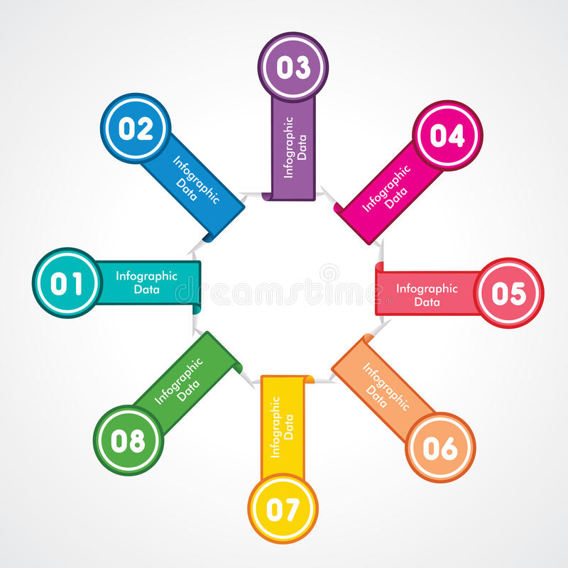 Творческий информаци-график иллюстрация штока