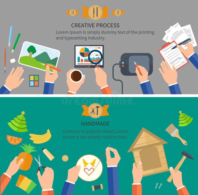 Творческий и handmade процесс бесплатная иллюстрация