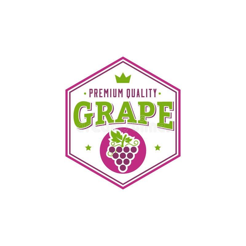 Творческий логотип искусства вектора логотипа виноградины иллюстрация вектора
