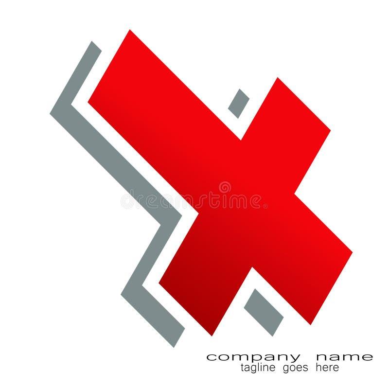 Творческий логотип письма x образца дизайна иллюстрация вектора
