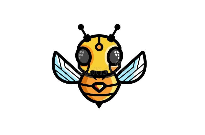 Творческий логотип символа робота пчелы бесплатная иллюстрация