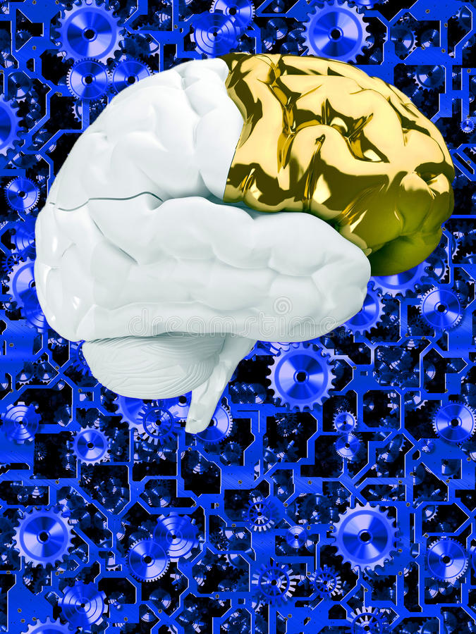 Творческий мозг иллюстрация штока