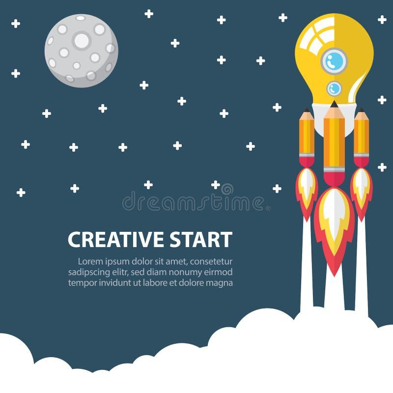 Творческий начните вверх иллюстрация штока