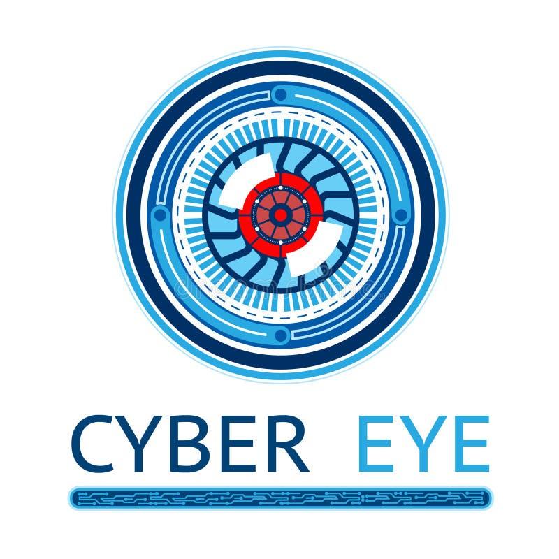 Творческий логотип глаза кибер бесплатная иллюстрация