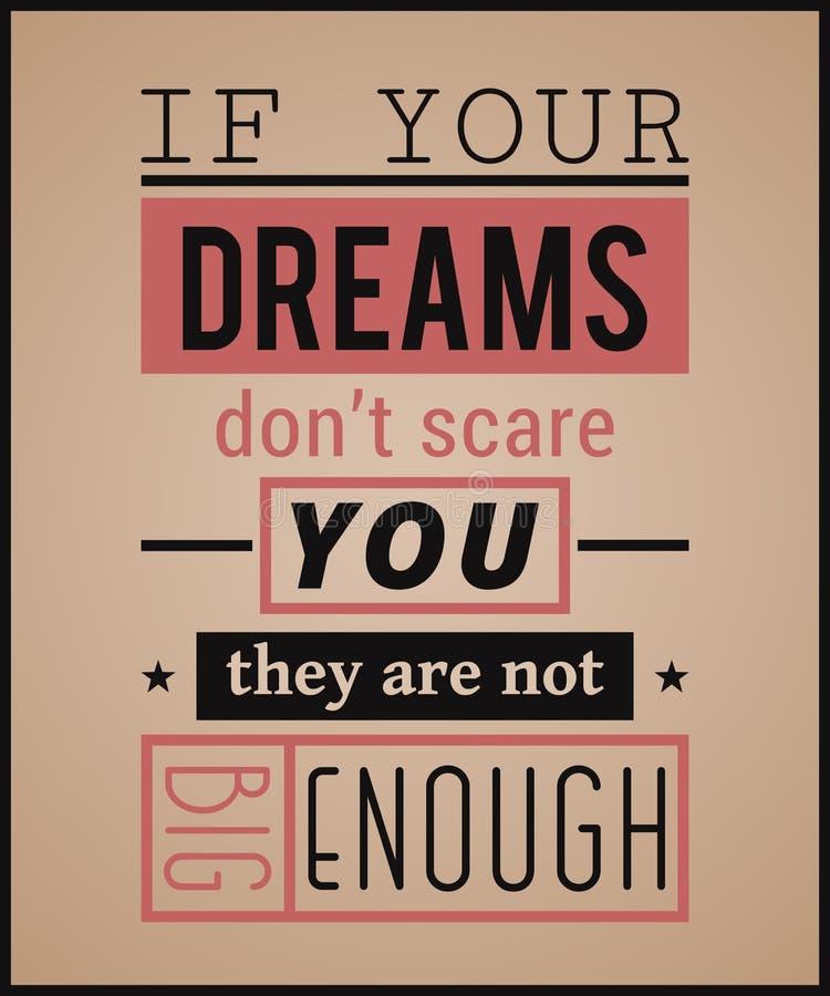 Творческий плакат оформления Винтажный стиль дизайна playbill Вдохновляющая цитата бесплатная иллюстрация