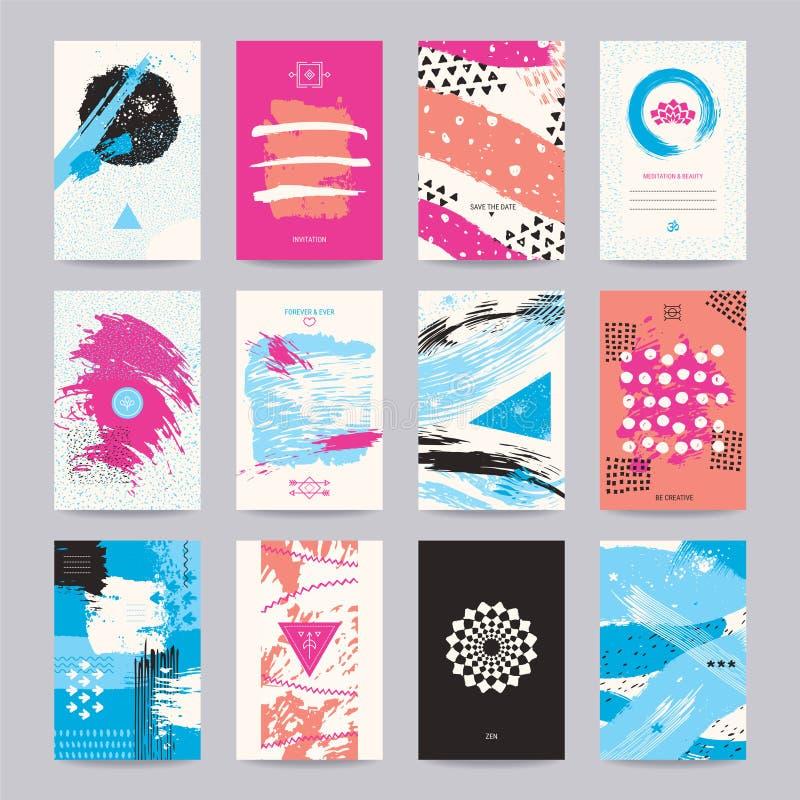 Творческий плакат, рогулька искусства, красочный современный дизайн иллюстрация штока
