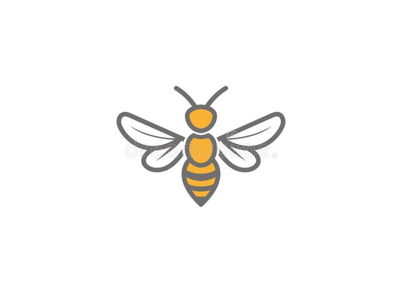 Творческий путайте логотип пчелы иллюстрация вектора