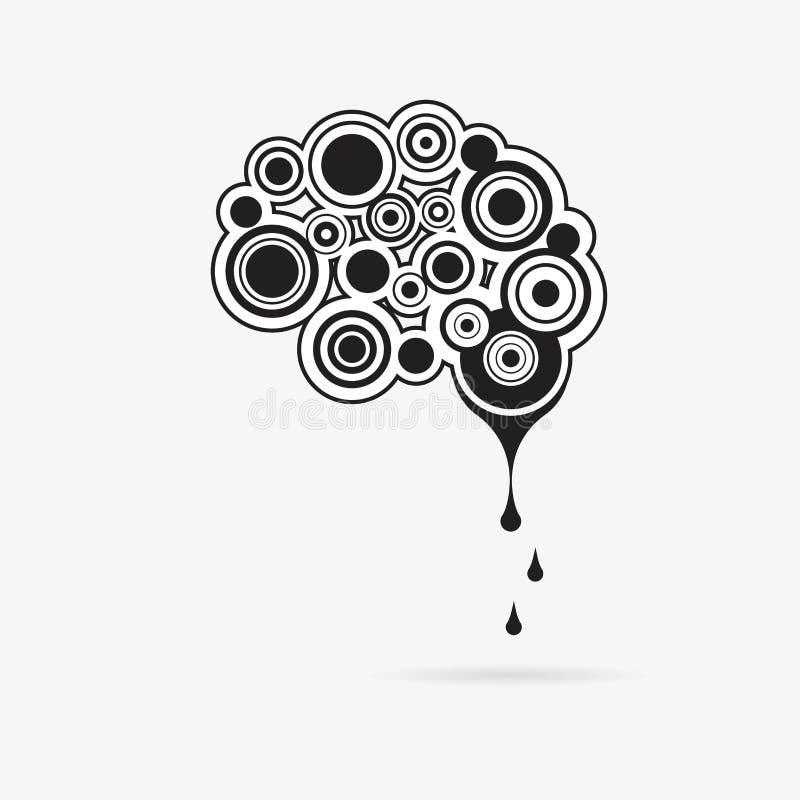 Творческий разум - иллюстрация концепции шаблона логотипа вектора дела Абстрактный знак человеческого мозга иллюстрация вектора