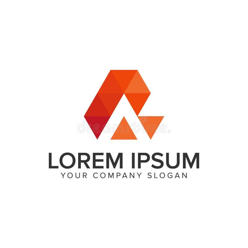 Творческий современный шаблон идеи проекта логотипа письма a полно editable иллюстрация штока