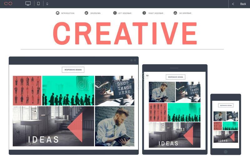 Творческий создайте концепцию воодушевленности стратегии идей стоковое изображение