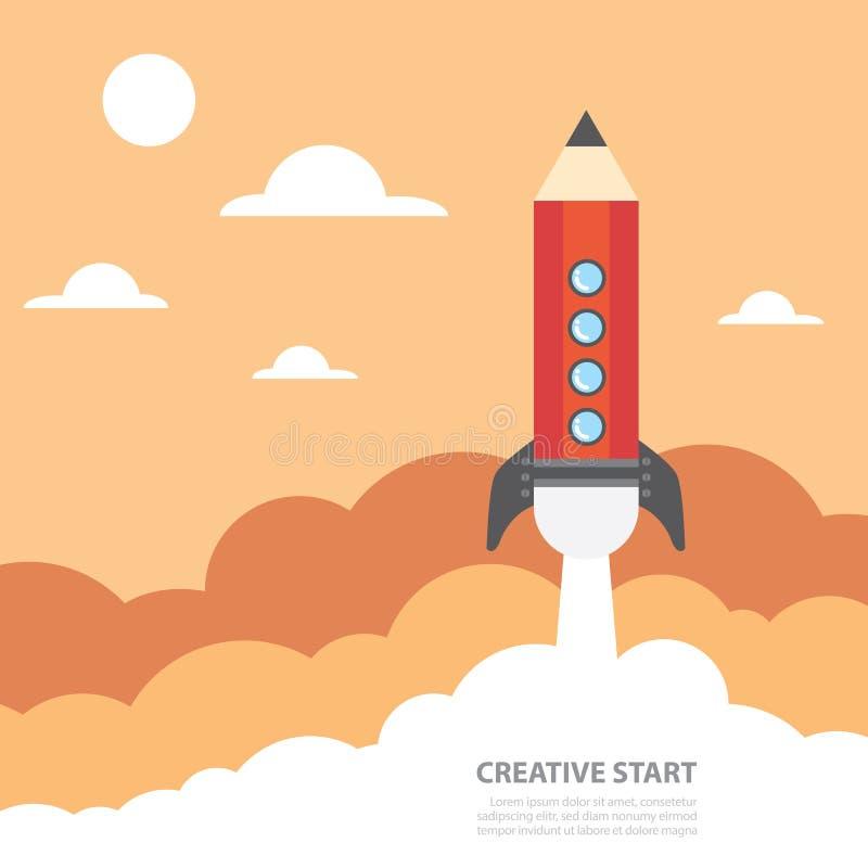 Творческий старт иллюстрация вектора