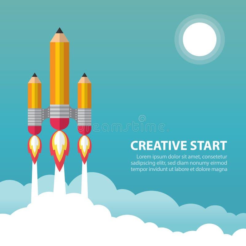 Творческий старт бесплатная иллюстрация