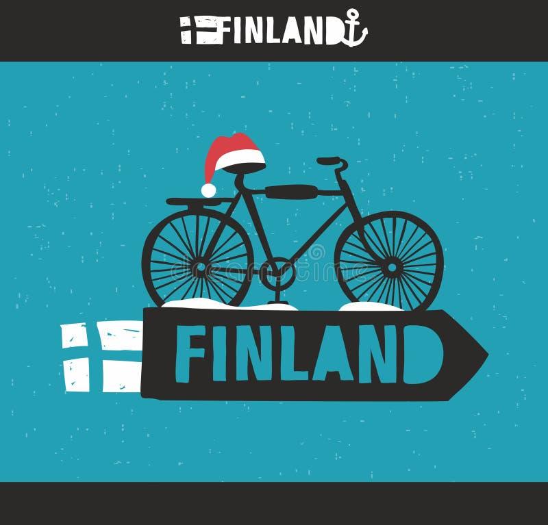 Творческий финский ярлык иллюстрация вектора