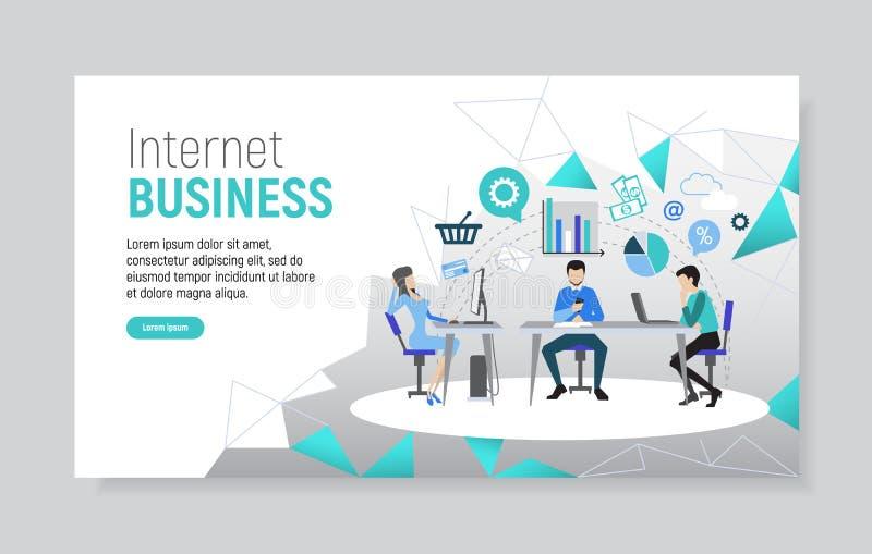 Творческий шаблон вебсайта для дела интернета бесплатная иллюстрация