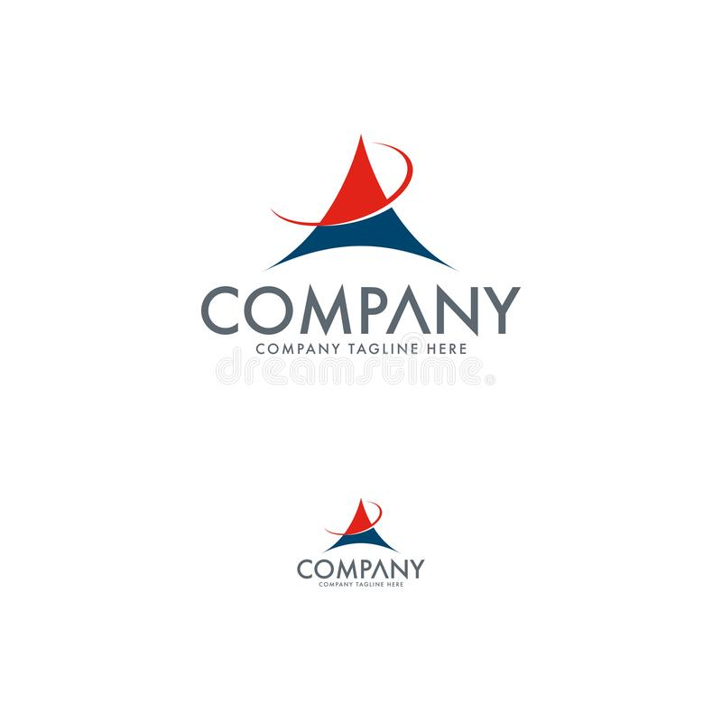 Творческий шаблон дизайна логотипа письма a иллюстрация штока