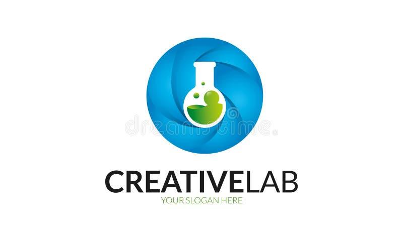Творческий шаблон логотипа лаборатории бесплатная иллюстрация