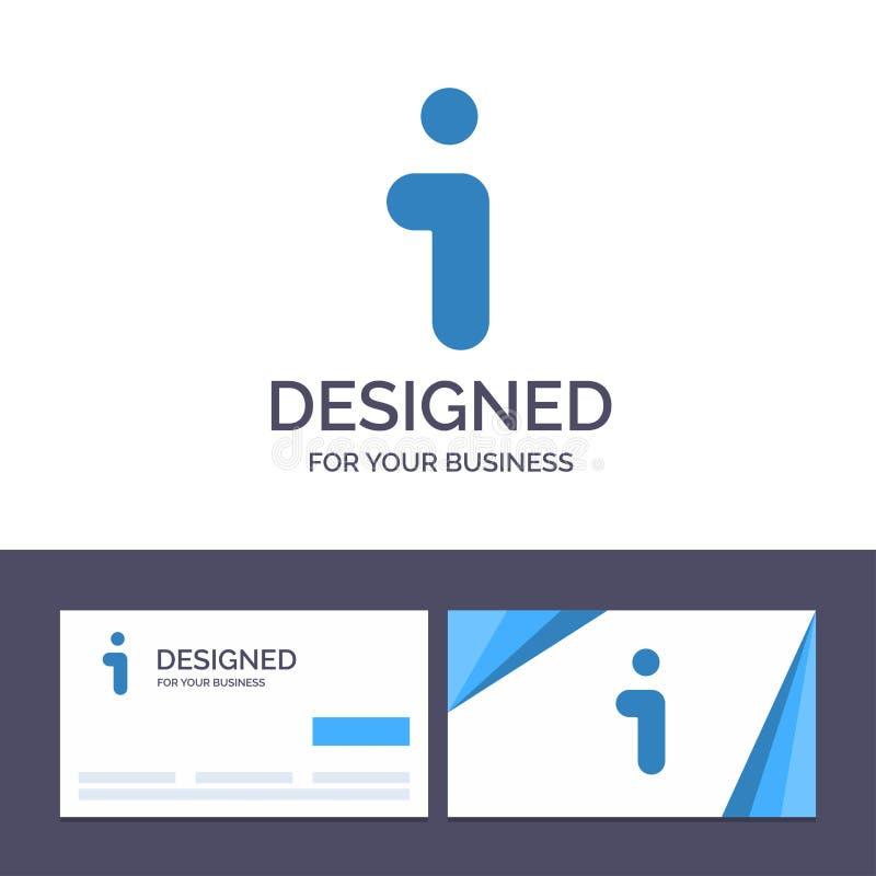 Творческий шаблон i визитной карточки и логотипа, информация, информация, иллюстрация вектора интерфейса иллюстрация вектора