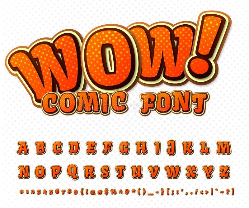 Творческий шуточный шрифт Алфавит вектора в шипучке стиля бесплатная иллюстрация