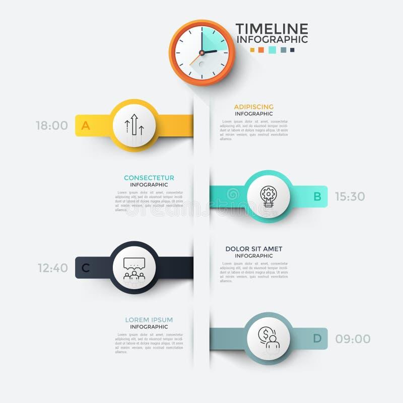 Творческий infographic шаблон дизайна иллюстрация вектора