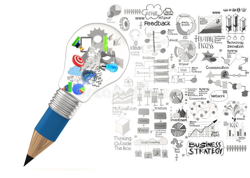 Творческое дело дизайна иллюстрация штока