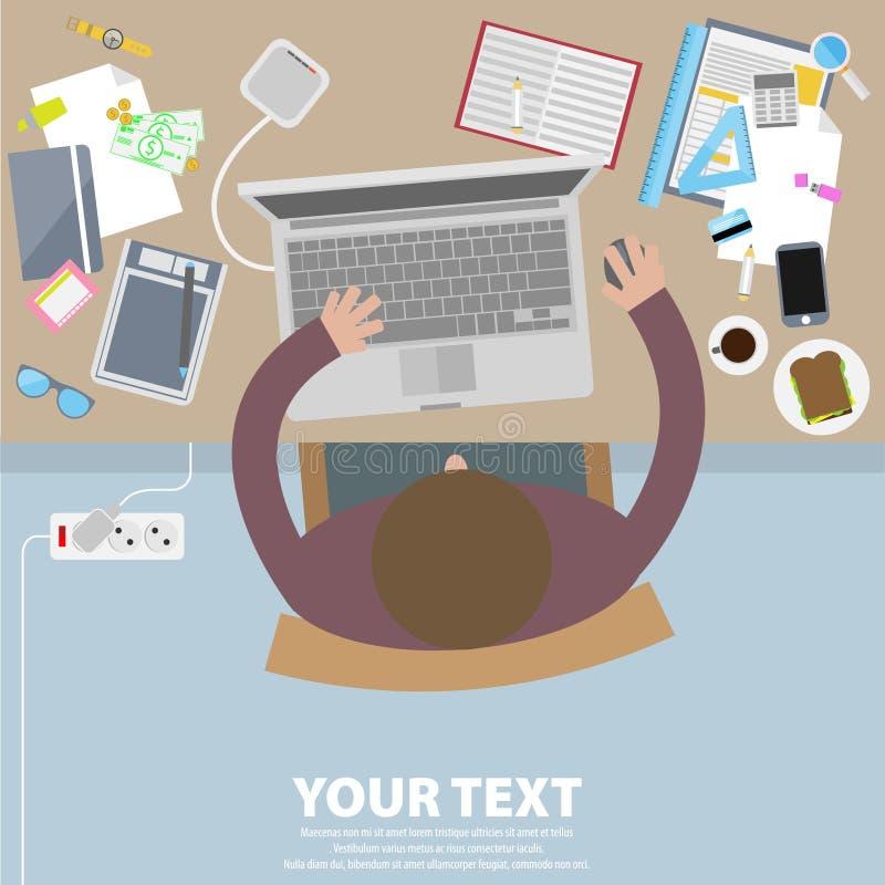 Творческое дело и дизайн вектора офиса схематический бесплатная иллюстрация
