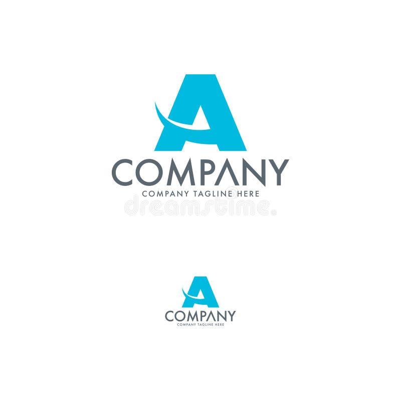 Творческое письмо a и шаблон дизайна логотипа образования иллюстрация штока