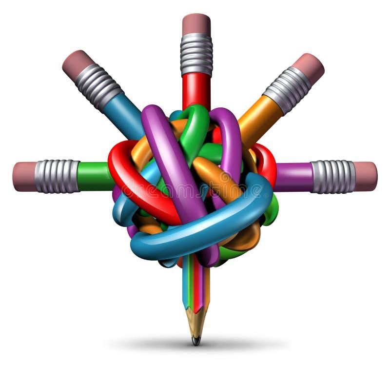 Творческое управление иллюстрация штока