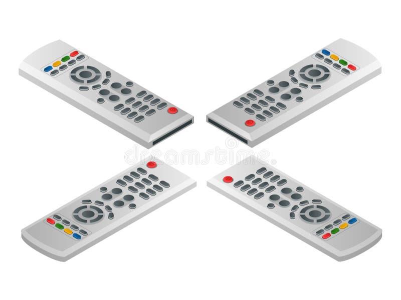 ТВ дистанционного управления Иллюстрация плоского вектора 3d равновеликая иллюстрация вектора