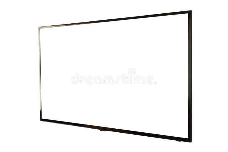 ТВ СИД, установка стены, изолированная на белой предпосылке стоковое изображение rf