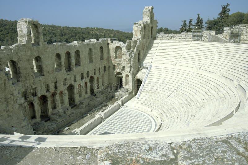 театр акрополя стоковая фотография rf