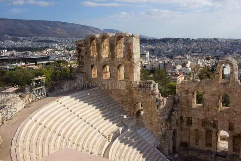 Театр акрополя стоковые фото