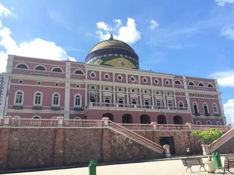 Театр Амазонки в Манаус стоковое изображение