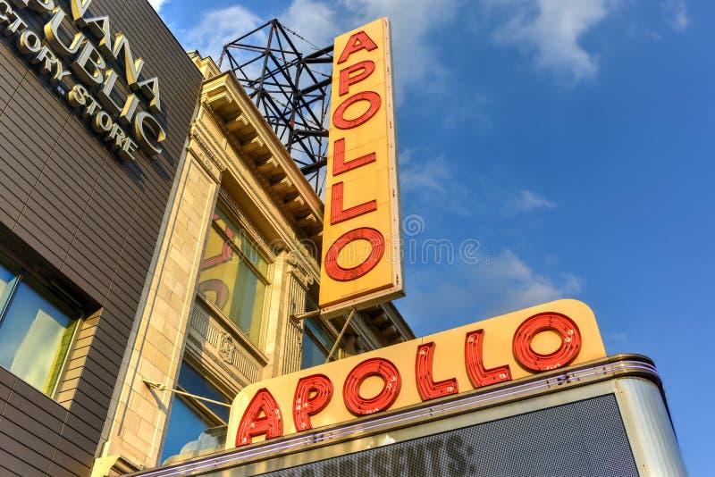 Театр Аполлона - Гарлем, Нью-Йорк стоковое фото