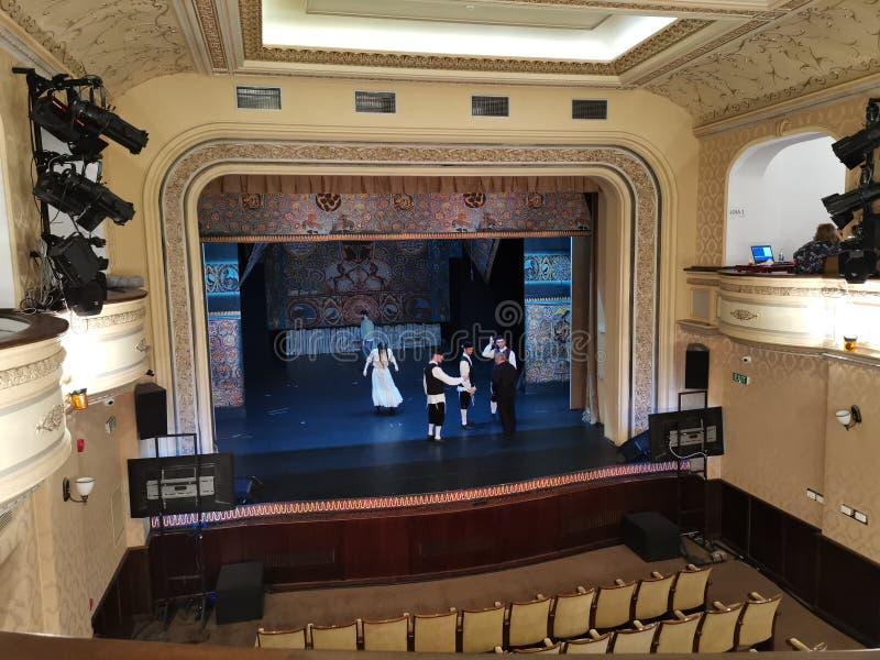 Театр, Бухарест, Румыния стоковое изображение