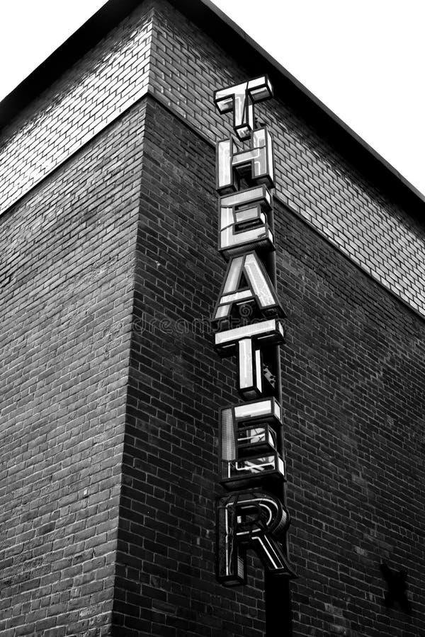 Театр в черно-белом стоковое фото