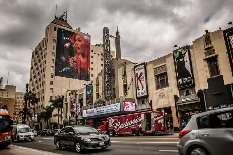 Театр Голливуд Pantages стоковое фото
