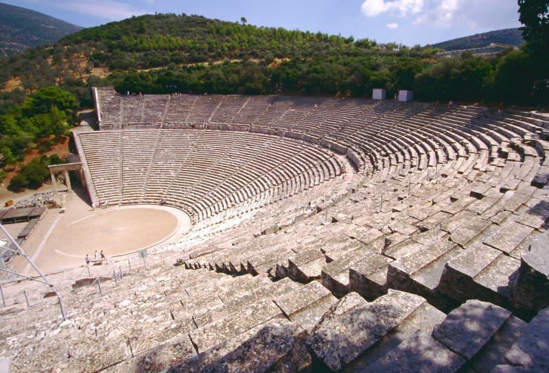 театр грека epidauros стоковые изображения rf