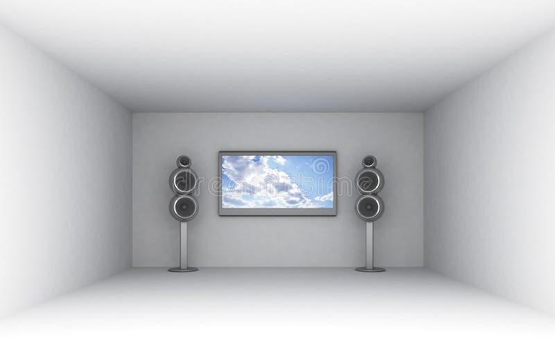 театр домашней комнаты иллюстрация вектора