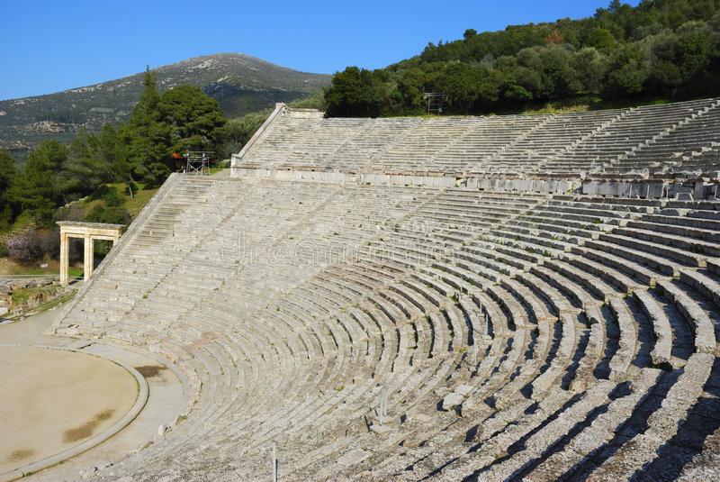 театр древнегреческия стоковая фотография rf