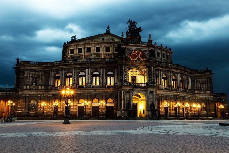 Театр Дрездена стоковые изображения rf
