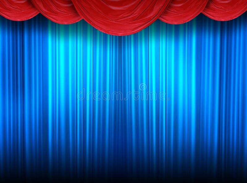 театр занавесов самомоднейший иллюстрация штока