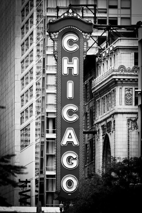театр знака noir chicago стоковое изображение