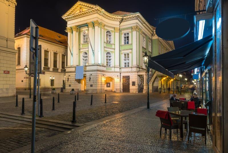 Театр имущества в Праге взгляд городка республики cesky чехословакского krumlov средневековый старый стоковые фото