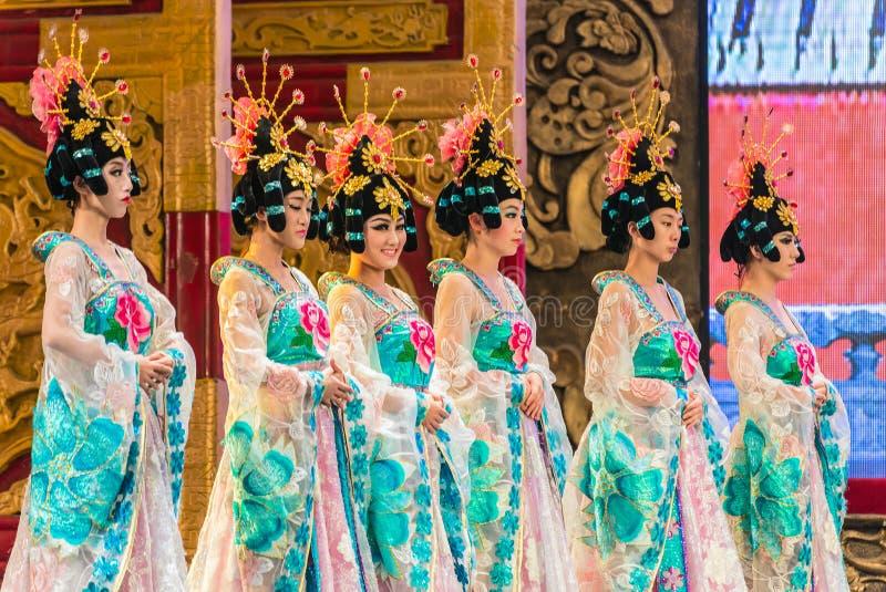 Театр династии тяни - Xian, Китай стоковое изображение rf