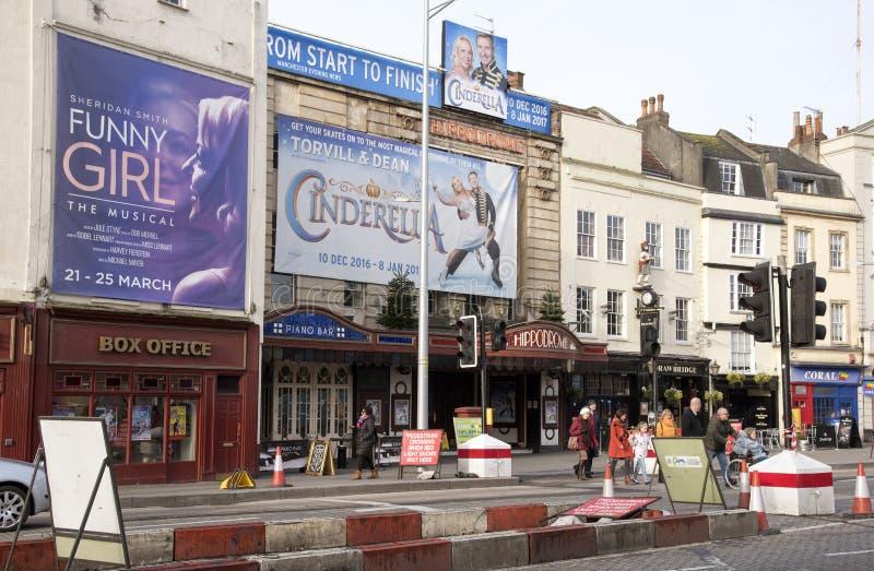 Театр и кассовый сбор Hippodrome в Бристоле Великобритании стоковые фотографии rf