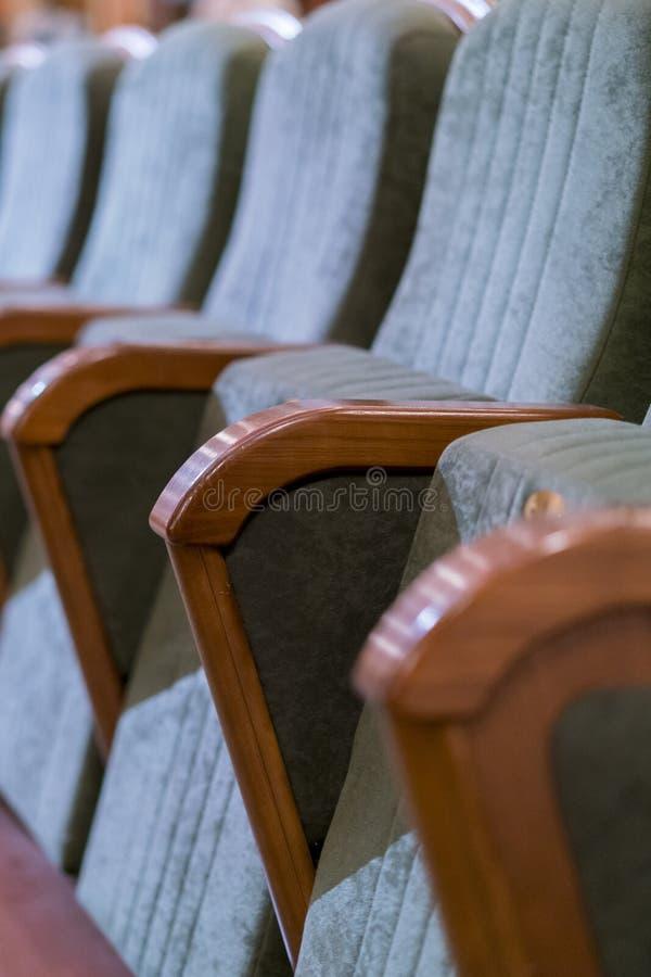 Театр кресла Классические места театра глубоко ( стоковое изображение rf