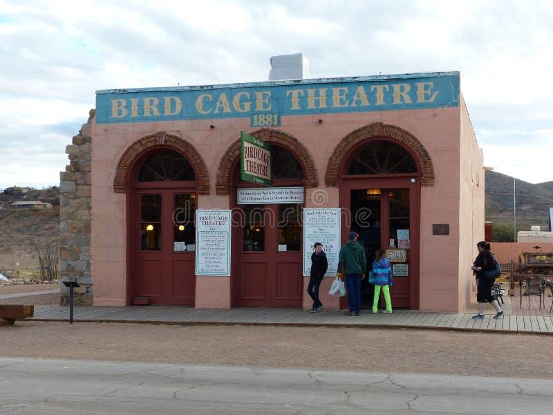 Театр клетки птицы, надгробная плита, Аризона стоковые изображения rf