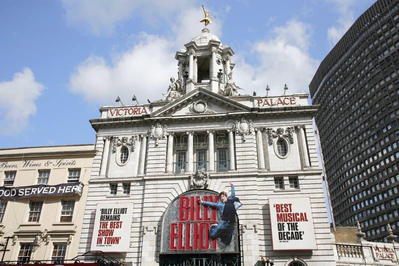 Театр Лондона, театр дворца Виктории стоковое изображение rf